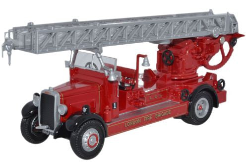 Oxford Diecast London Fire Brigade Leyland TLM Fire Engine - 1:76 Scal
