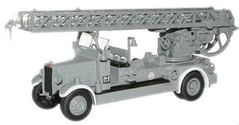 Oxford Diecast London (Grey) TLM Fire Engine - 1:76 Scale