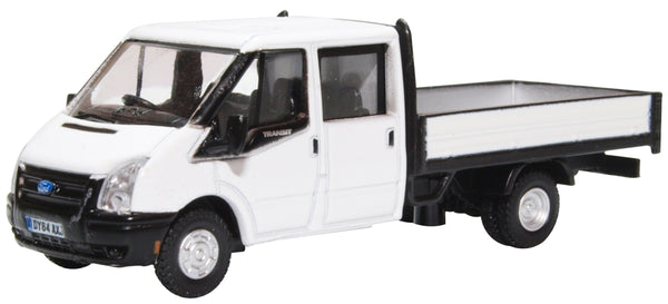 Oxford Diecast White Ford Transit Dropside