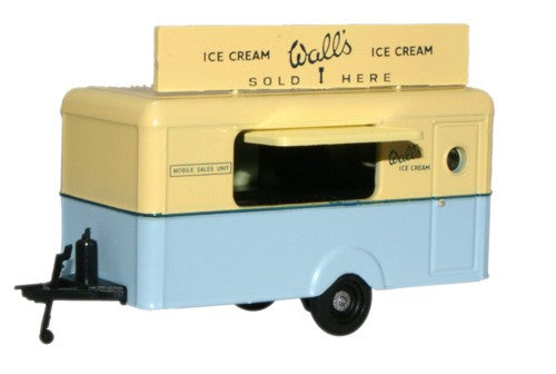 Oxford Diecast Walls Ice Cream Mobile Trailer - 1:76 Scale
