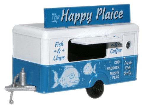 Oxford Diecast The Happy Plaice Mobile Trailer - 1:76 Scale