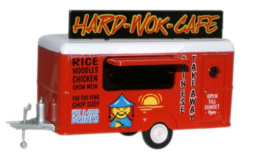 Oxford Diecast Mobile Trailer Hard Wok CafŽ - 1:87 Scale