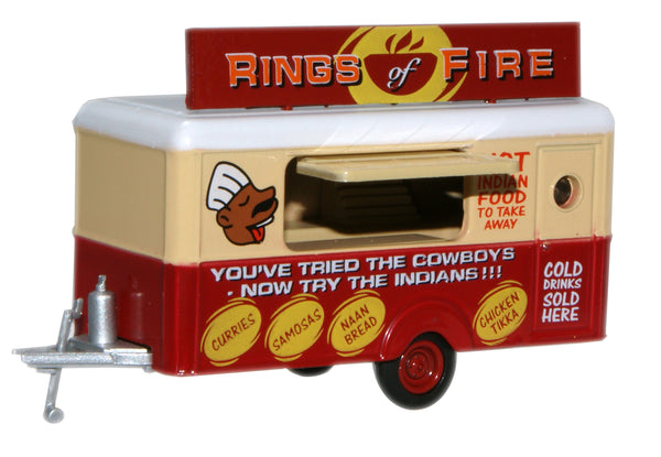 Oxford Diecast Mobile Trailer Rings of Fire - 1:87 Scale