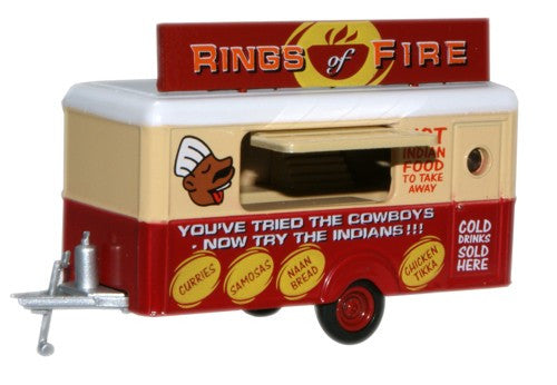 Oxford Diecast Mobile Trailer Rings of Fire - 1:76 Scale