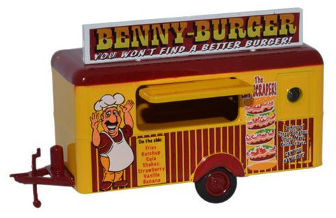 Oxford Diecast Benny Burger Mobile Trailer - 1:76 Scale