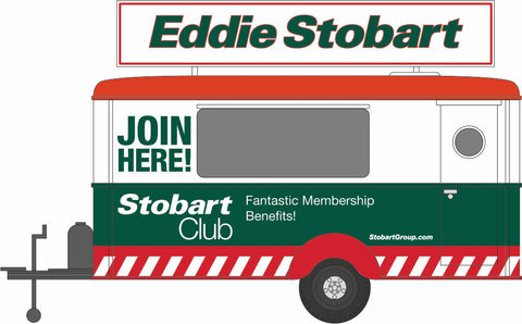 Oxford Diecast Eddie Stobart Fan Club Mobile Trailer