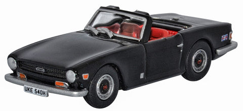 OXFORD DIECAST 1:76 Scale Black Triumph TR6 76TR6004