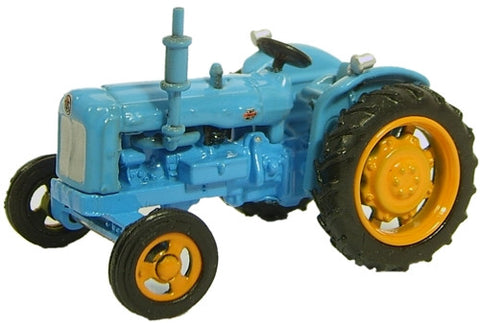 Oxford Diecast Fordson Tractor Blue - 1:76 Scale