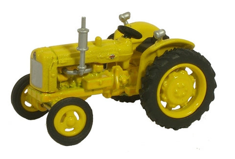 Oxford Diecast Yellow Highways Fordson Tractor - 1:76 Scale