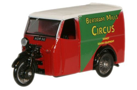 Oxford Diecast Bertram Mills Tricycle Van - 1:76 Scale