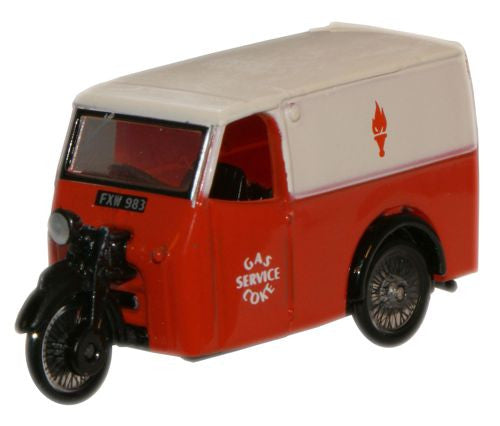 Oxford Diecast Gas and Coke Service Tricycle Van - 1:76 Scale