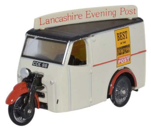 Oxford Diecast Tricycle Van Lancashire Evening Post - 1:76 Scale