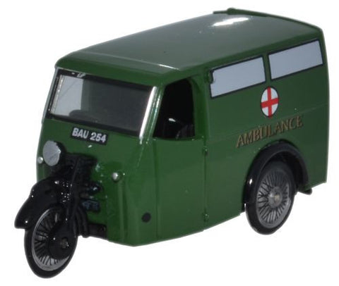 Oxford Diecast Tricycle Van Ambulance - 1:76 Scale