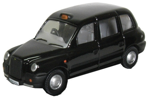 Oxford Diecast Black TX Taxi - 1:76 Scale