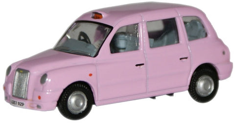 Oxford Diecast Pink TX4 Taxi - 1:76 Scale