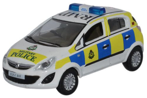 Oxford Diecast Vauxhall Corsa Royal Military Police - 1:76 Scale