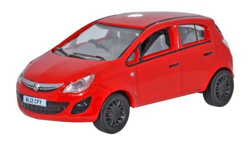Oxford Diecast Vauxhall Corsa Red - 1:76 Scale