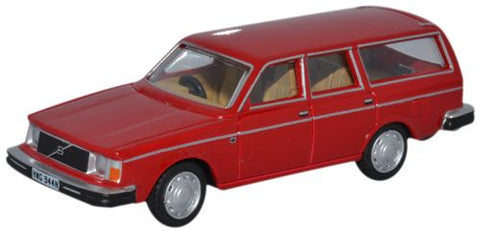 Oxford Diecast Volvo 245 Estate Red - 1:76 Scale