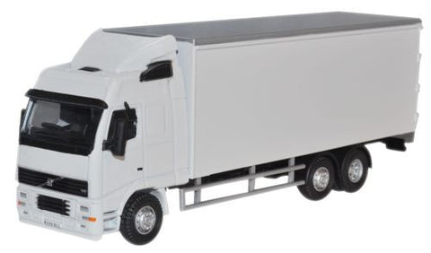 Oxford Diecast White Volvo FH Box Lorry - 1:76 Scale