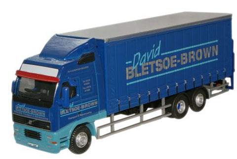 Oxford Diecast David Bletsoe Brown Volvo FH Curtainside Lorry - 1:76 S