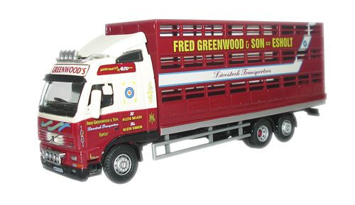Oxford Diecast Fred Greenwood Volvo FH Livestock Lorry - 1:76 Scale
