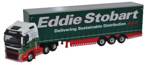 Oxford Diecast Volvo FH4 Curtainside Eddie Stobart - 1:76 Scale