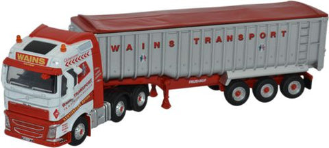 Oxford Diecast Volvo Fh4 Tipper Wains Transport