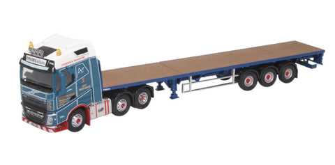 Oxford Diecast Volvo FH4 (g) Flatbed Trailer P Mckerral & Co Ltd