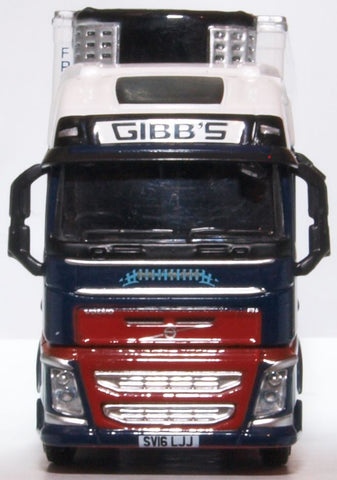 Oxford Diecast Volvo FH4 Gxl Fridge Trailer Gibbs Of Fraserburgh