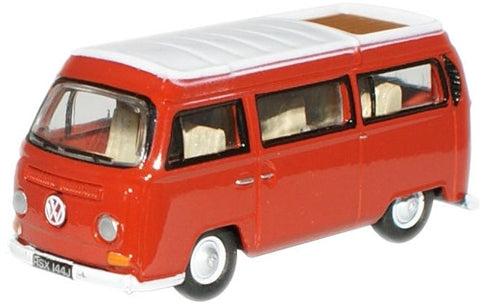 Oxford Diecast Senegal Red/White VW Camper - 1:76 Scale