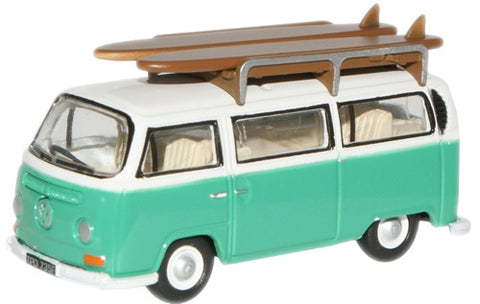 Oxford Diecast Birch Green/White VW Bus - 1:76 Scale