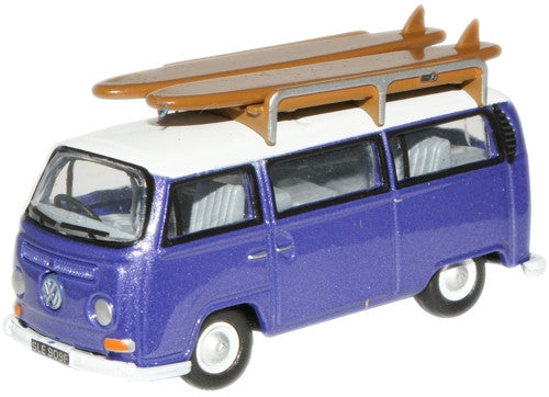 Oxford Diecast VW Bus Metallic Purple/White - 1:76 Scale