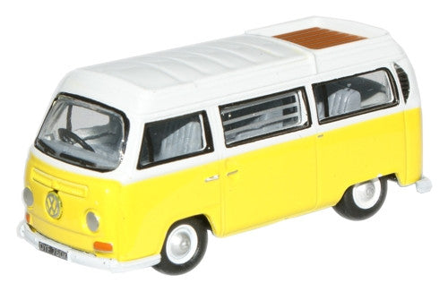 Oxford Diecast VW Camper Closed Saturn Yellow/White - 1:76 Scale