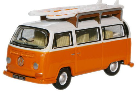 Oxford Diecast Signal Orange White VW Bay Bus - 1:76 Scale
