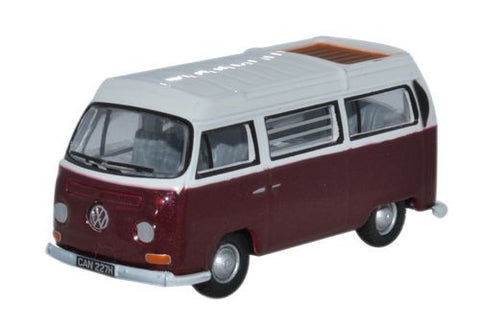 Oxford Diecast V Bay Window Camper Colorado Metallic/White - 1:76 Scal