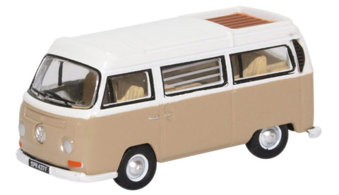 Oxford Diecast VW Bay Window Camper Savannah Beige/White