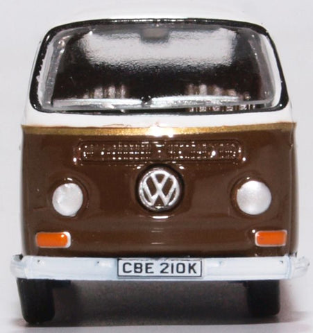 Oxford Diecast VW Bay Window Brown/White