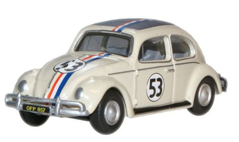 Oxford Diecast Pearl White 53 VW Beetle - 1:76 Scale