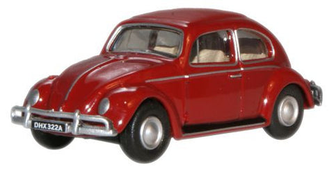 Oxford Diecast Ruby Red VW Beetle - 1:76 Scale