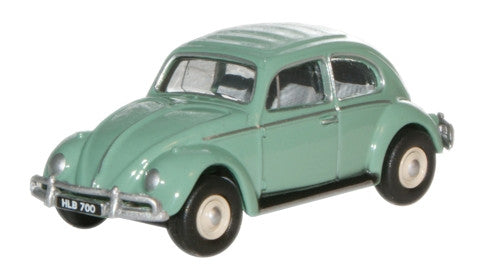 Oxford Diecast Turquoise VW Beetle - 1:76 Scale