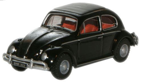 Oxford Diecast Black VW Beetle - 1:76 Scale