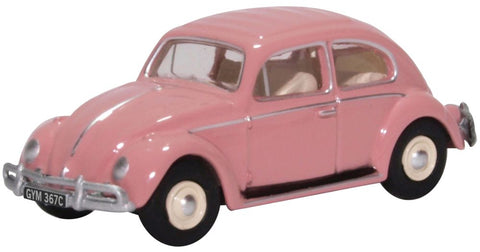 Oxford Diecast VW Beetle Pink (uk/hk Reg)