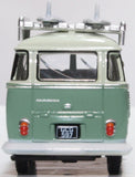 Oxford Diecast VW T1 Samba Bus/surfboards Turquoise/blue White