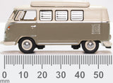 Oxford Diecast VW T1 Camper Mouse Grey/pearl White