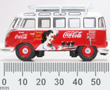 Oxford Diecast VW T1 Bus and Surfboards Coca Cola