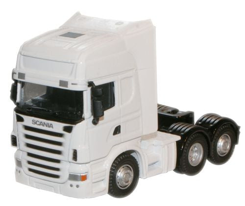 Oxford Diecast White Scania Cab - 1:76 Scale
