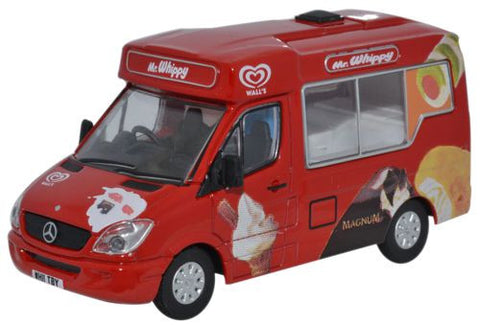 Oxford Diecast Walls Ice Cream Whitby Mondial Ice Cream Van - 1:76 Sca