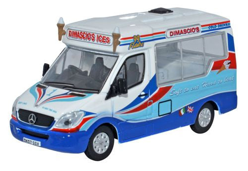 Oxford Diecast Dimascios Whitby Mondial Ice Cream Van - 1:76 Scale