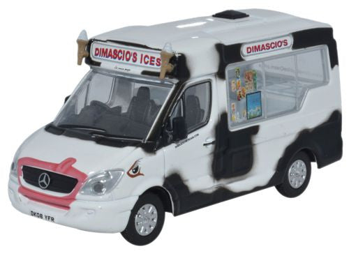 Oxford Diecast Whitby Mondial Ice Cream Dimaschios - 1:76 Scale
