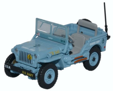 Oxford Diecast Willys MB US Navy Seebees